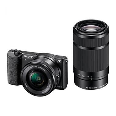 "Sony ILCE5100YB.CEC A5100  Appareil Photo hybride 3"" (7,62 cm) 24,3 Mpix Wi-Fi/USB/HDMI + Objectif 16-50 mm/55-210 mm Noir @ Amazon.fr"