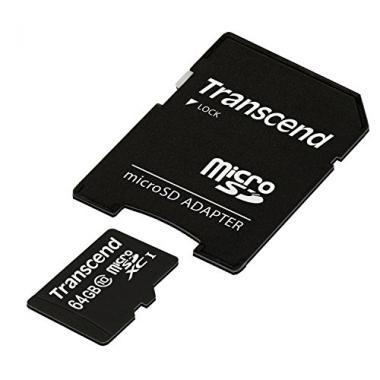Transcend 64 Go Carte Memoire microSDXC Classe 10 @ Amazon.fr