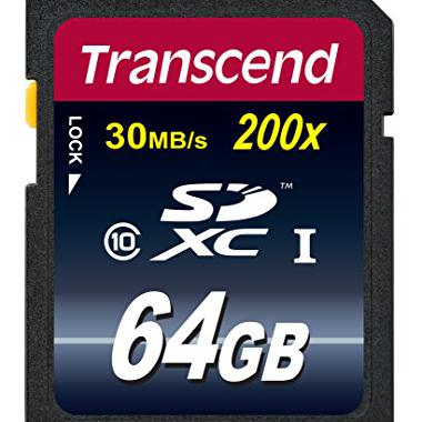 Transcend 64 Go Carte memoire SDXC Classe 10 @ Amazon.fr