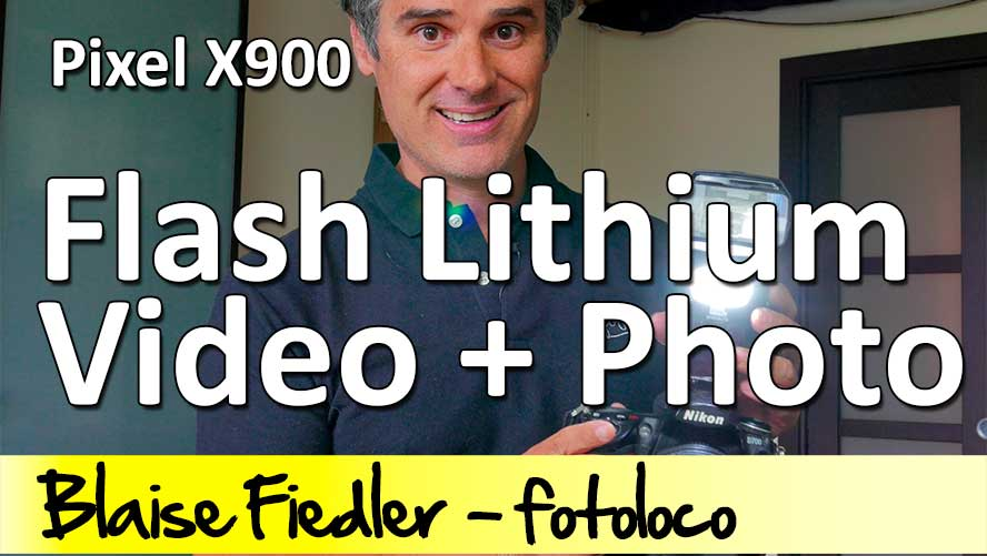 Pixel X900N flash lithium nikon