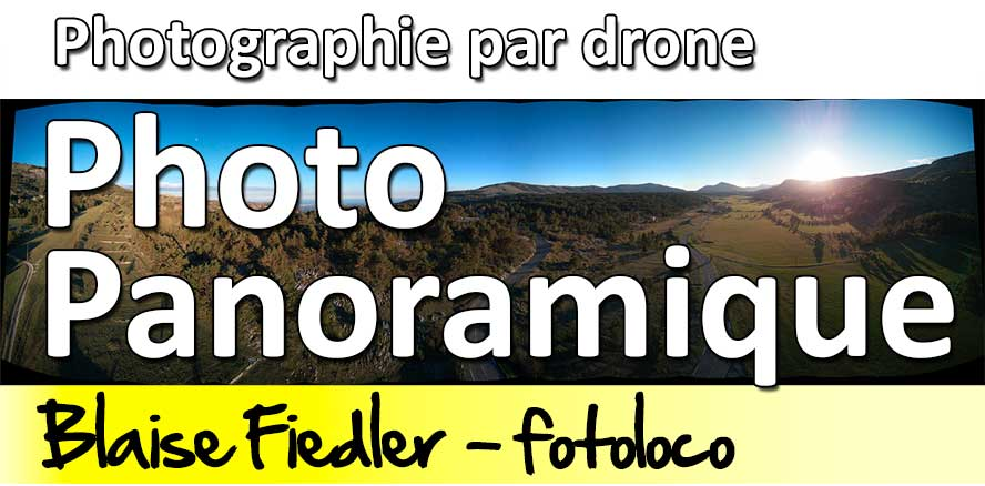 Photographie panoramique par drone