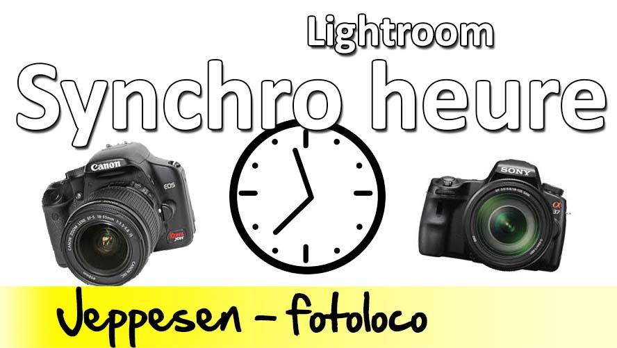 synchoniser plusieurs appareils photos horloge lightroom