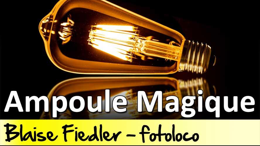 Tuto photo ampoule magique