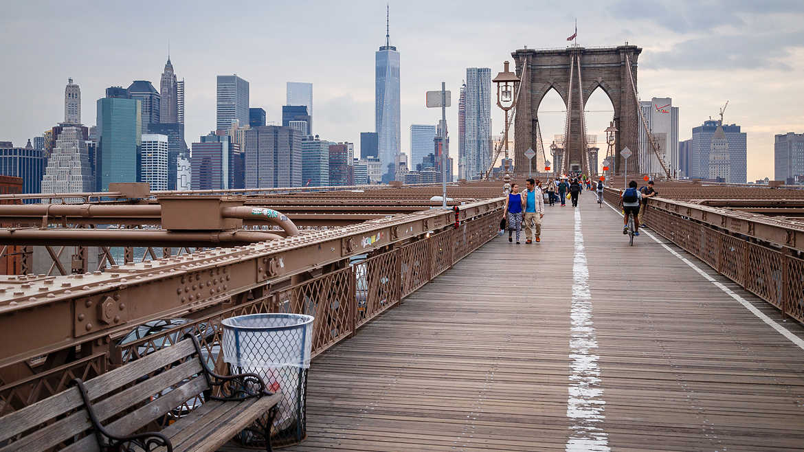 Skyline depuis le Brooklyn bridge