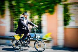 Cycliste a Jerusalem
