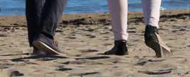 promenade dans le sable