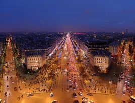 Paris vu depuis l'arc de triomphe