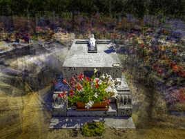 Tombe de Gabrielle Bossis à Fresnes sur Loire