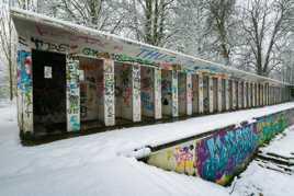 Contraste neige et couleurs
