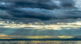 soleil à l' horizon...
