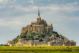 Le mont St Michel et ses moutons