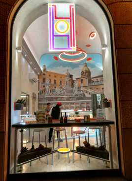 vitrine de snack en Sicile