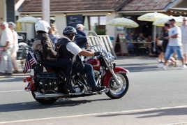 Filet d'une Harley Davidson Rouge
