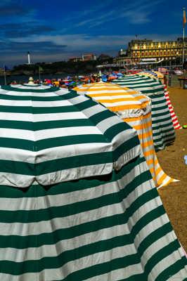 Les tentes de Biarritz