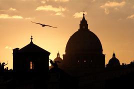 Couché de soleil sur le Vatican