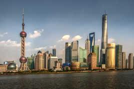 Shanghaï dans le soleil