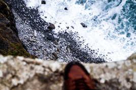 Au bord de la falaise