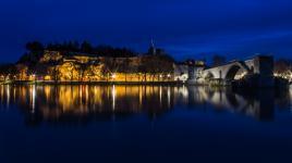 Avignon à l'heure bleue