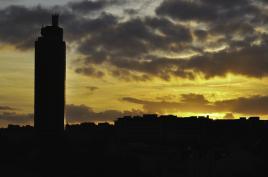 coucher de soleil sur Nantes