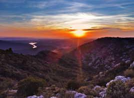 Coucher de Soleil HDR en Provence