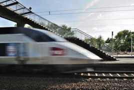 La passerelle du TGV