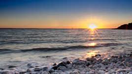 Belle nuit en mer