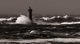 Phare du Four dans la tempête