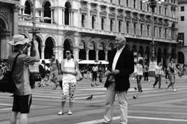 Scène de vie touristique