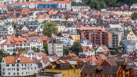 Sur les toits de Bergen