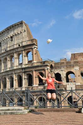 heureuse d'être a Rome