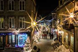 Petit Champlain fête Noël.