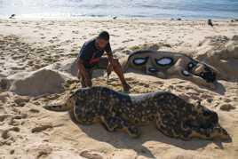 Sculpture sur sable...