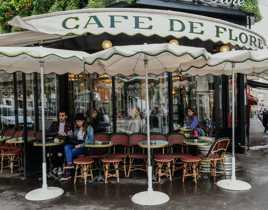 Couple au Café  Flore