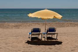 La plage pour nous seuls
