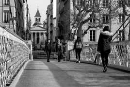 St Pothin depuis la passerelle du collège.