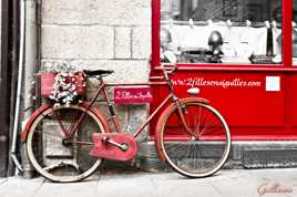 A bicyclette....