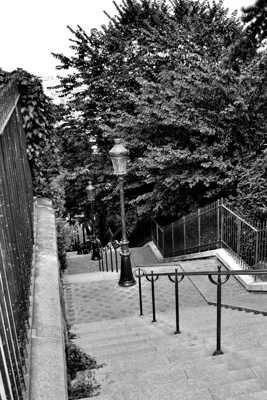 Les fameuses marches de Montmartre