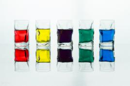 verres colorés