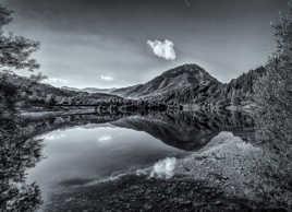 Paysage N&B #8 - Lac de Montagne