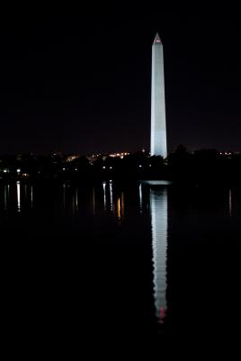 Washington Monument by night