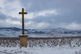 Pays beaujolais sous la neige