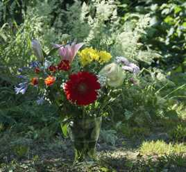 bouquet et graminés
