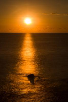 sunset a Manapany