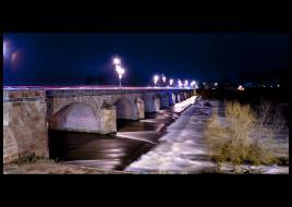 Pont de Loire Nevers de nuit