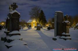 une nuit au cimetière