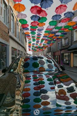 reflets de parapluies