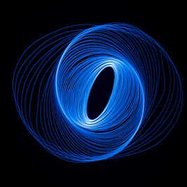 Mouvement de lumière en spirale elliptique