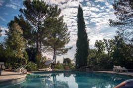 calme sur la piscine