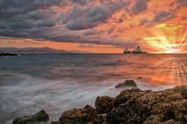 Lever de soleil en méditerranée...