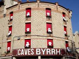 Décoration de Noël aux Caves de Byrrh à Thuir